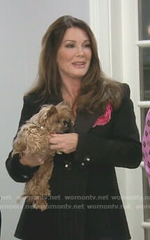 Lisa's black tweed jacket on The Real Housewives of Beverly Hills