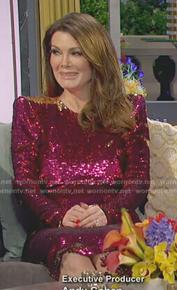 Lisa's pink sequin dress on The Real Housewives of Beverly Hills