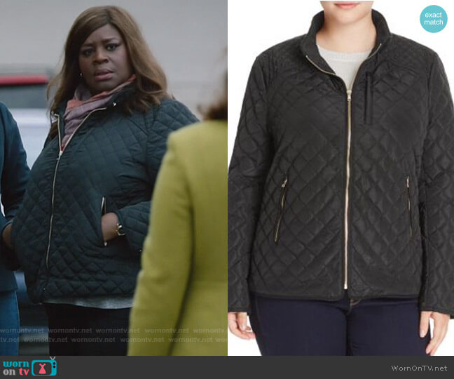 Quilted Bomber Jacket by Lucky Brand worn by Ruby Hill (Retta) on Good Girls