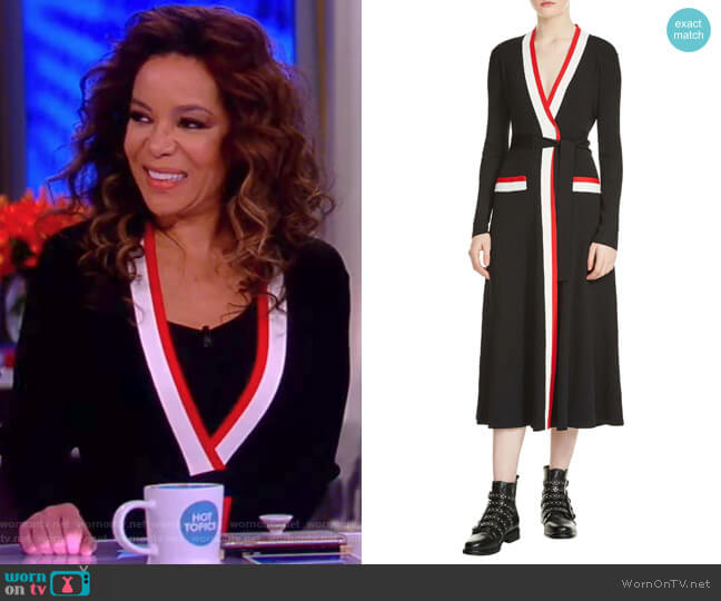 Rosiana Wrap Midi Dress by Maje worn by Sunny Hostin  on The View
