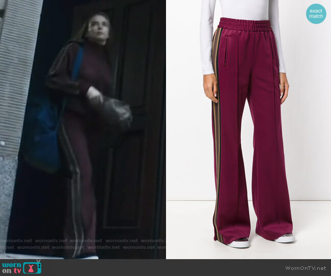 Runaway track pants by Marc Jacobs worn by Villanelle (Jodie Comer) on Killing Eve