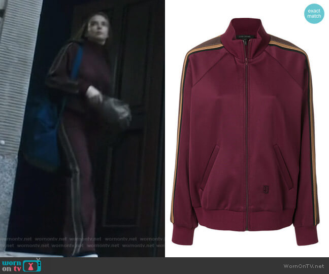 Striped Detail Track Jacket by Marc Jacobs worn by Villanelle (Jodie Comer) on Killing Eve