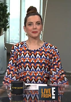 Melanie's geometric print dress on Live from E!