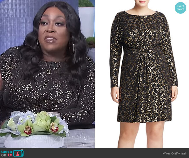 Twisted Star Print Dress by MICHAEL Michael Kors worn by Loni Love on The Real