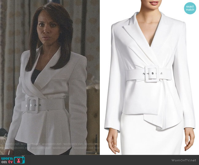 Double Crepe Jacket by Michael Kors Collection worn by Kerry Washington on Scandal