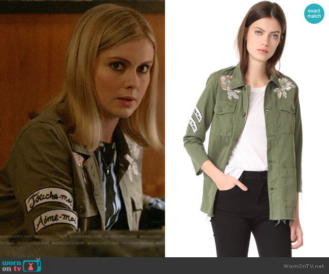 Mother Top Brass Fray Jacket  worn by Liv Moore (Rose McIver) on iZombie