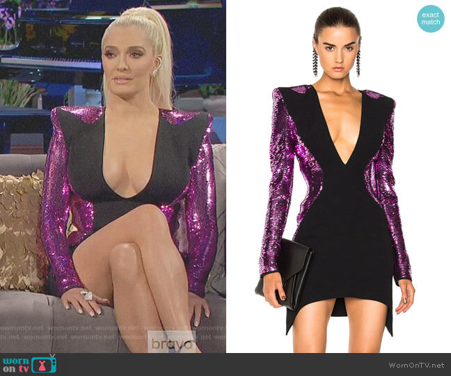 Sequin Mermaid Dress by Mugler worn by Erika Girardi on The Real Housewives of Beverly Hills