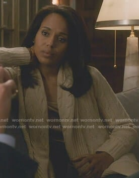 Olivia's cable knit shawl cardigan on Scandal