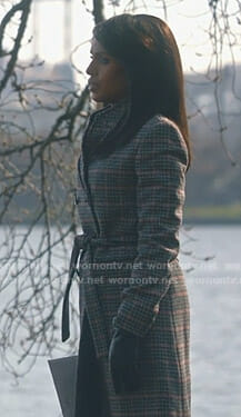 Olivia's grey checked coat on Scandal