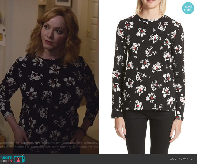 Print Cotton Tee by Proenza Schouler worn by Beth Boland (Christina Hendricks) on Good Girls