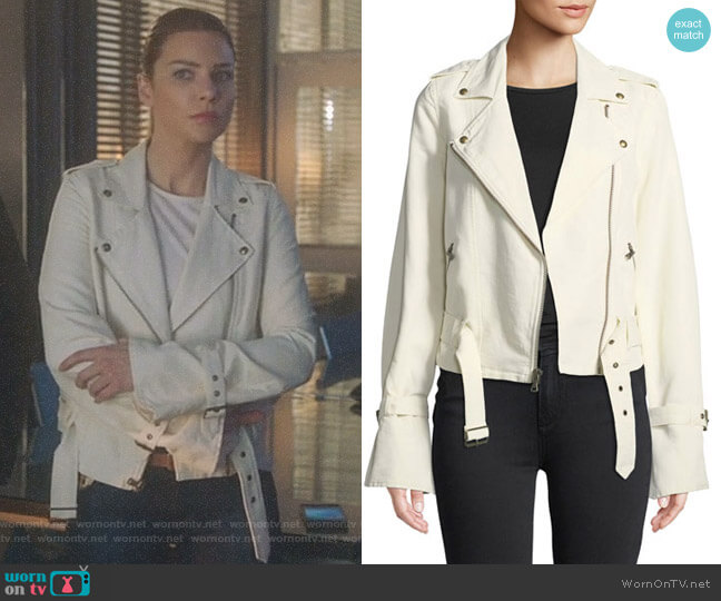 Rhoda Moto Jacket by Paige worn by Lauren German on Lucifer