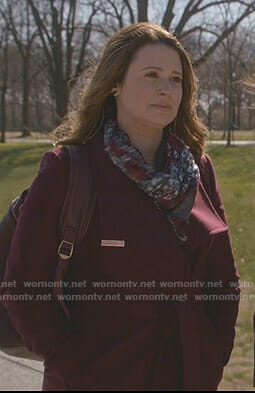 Quinn's burgundy coat on Scandal