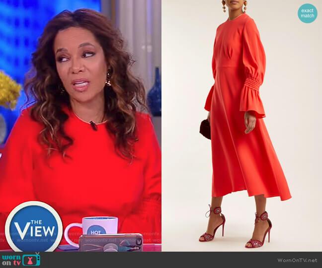 Duana Silk Dress by Roksanda worn by Sunny Hostin on The View
