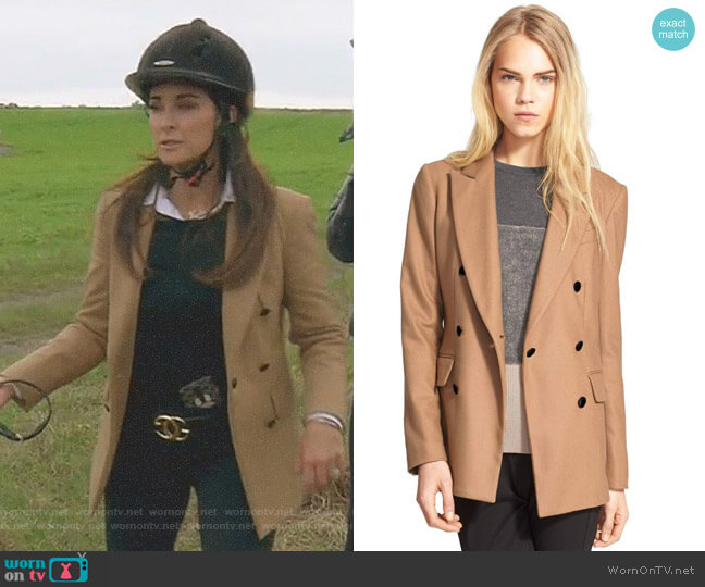 'Corin' Wool Blend Blazer by Rag & Bone worn by Kyle Richards on The Real Housewives of Beverly Hills