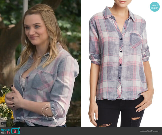 Hunter Plaid Shirt by Rails worn by Clementine Hughes (Hunter King) on Life in Pieces