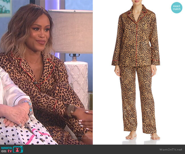 Leopard Print PJ Set by Lauren Ralph Lauren worn by Eve on The Talk