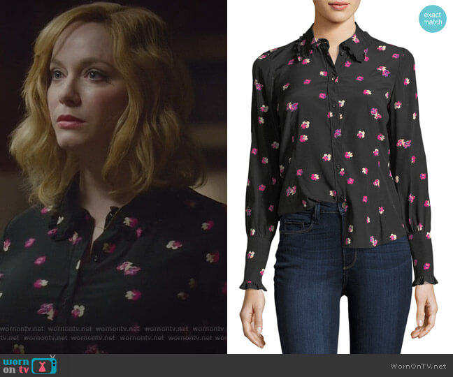 Floriana Silk Ruffle Blouse by Rebecca Taylor worn by Beth Boland (Christina Hendricks) on Good Girls