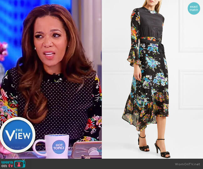 Chrissy Dress by Rixo London worn by Sunny Hostin on The View