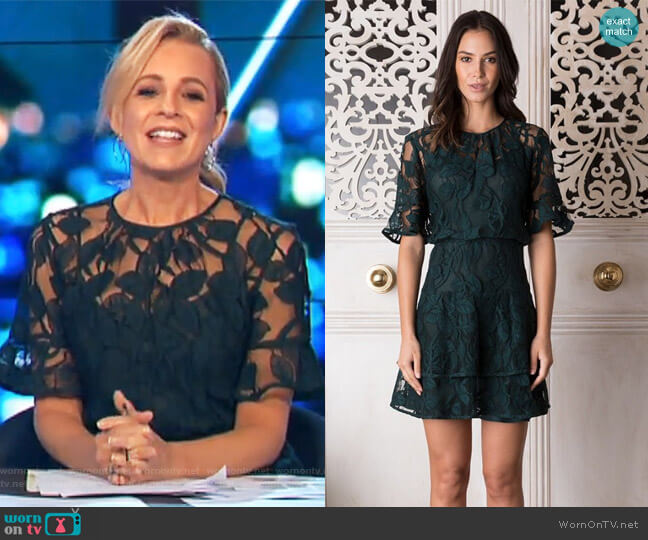 Petra Lace Dress by Rodeo Show worn by Carrie Bickmore on The Project