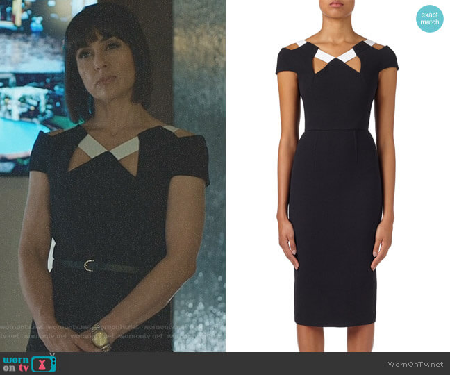 'Atkinson' Dress by Roland Mouret worn by Quinn King (Constance Zimmer) on UnReal