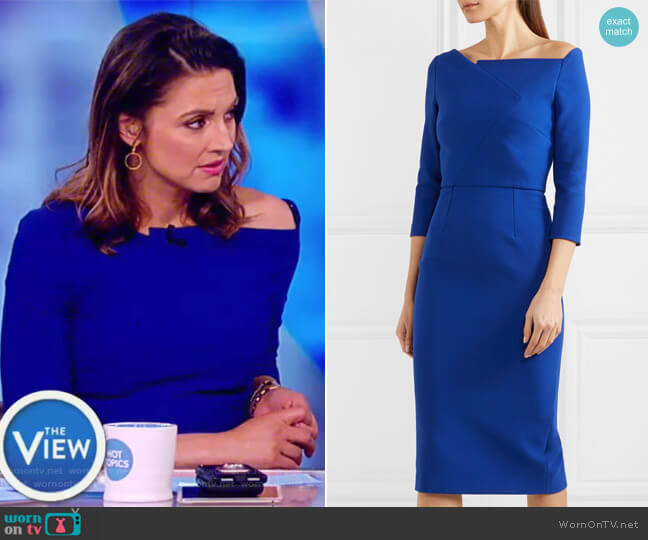 Witham asymmetric stretch-crepe dress by Roland Mouret worn by Paula Faris  on The View