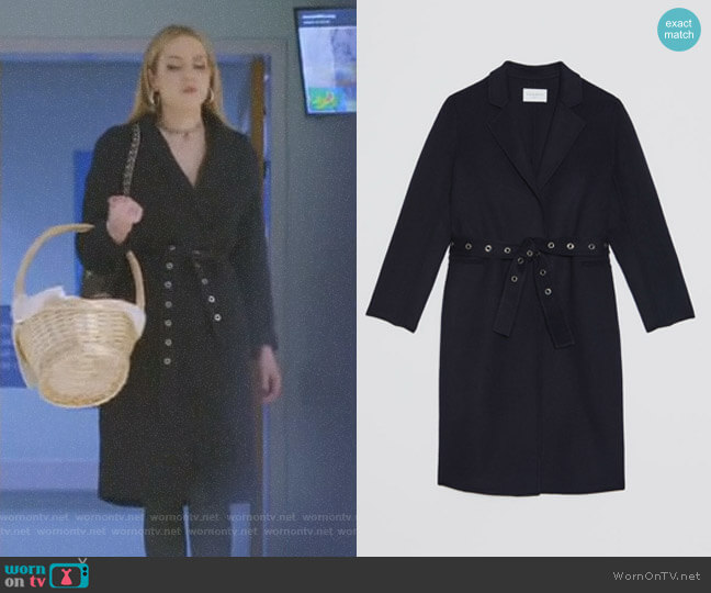 Miki Coat by Sandro worn by Fallon Carrington (Elizabeth Gillies) on Dynasty