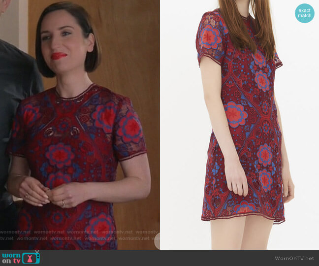 Lys Dress by Sandro worn by Jennifer Short (Zoe Lister-Jones) on Life in Pieces