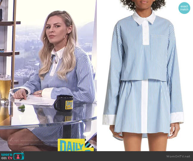 'Jodamo' Dress by Sandy Liang worn by Morgan Stewart on E! News