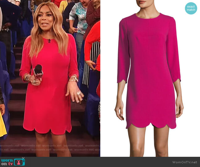 Scalloped Hem Dress by Shoshanna worn by Wendy Williams  on The Wendy Williams Show