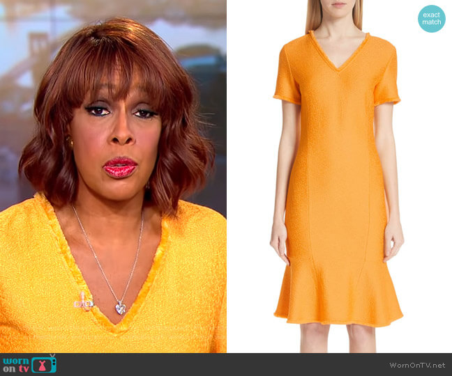 Caris Dress by St. John Collection worn by Gayle King on CBS This Morning