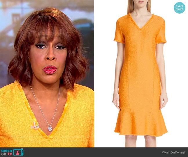Gayle's orange dress on CBS This Morning