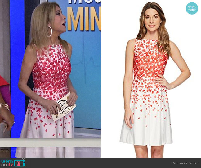 Faille Petals Fit-and-Flare Dress by Tahari ASL worn by Kathie Lee Gifford on Today