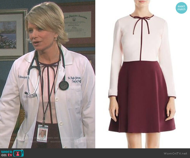 'Loozy' Dress by Ted Baker worn by Kayla Brady (Mary Beth Evans) on Days of our Lives