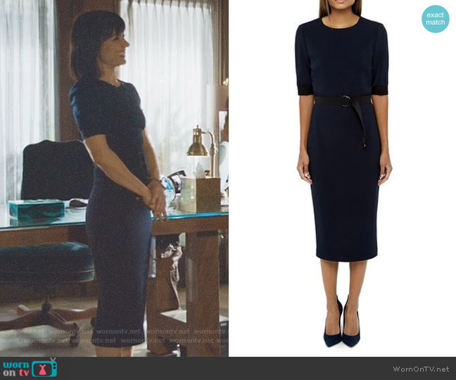 'Wandee' Color Block Dress by Ted Baker worn by Constance Zimmer on UnReal