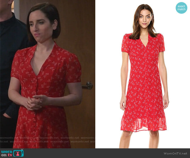 Bloom Dress by The Kooples worn by Zoe Lister-Jones on Life in Pieces