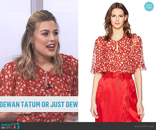Rosa Blouse by The Kooples worn by Carissa Loethen Culiner  on E! News