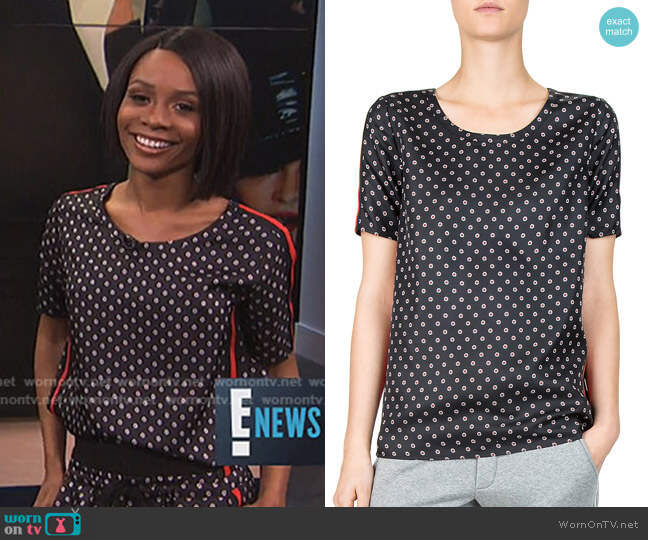 Ruby Floral-Print Top by The Kooples worn by Zuri Hall  on E! News