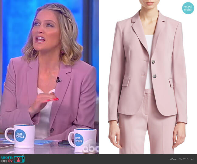 Nichelle Wool Blazer by Theory worn by Sara Haines  on The View
