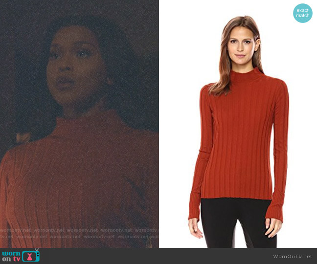 Rib Mock-Neck Sweater by Theory worn by Cotton (Amiyah Scott) on Star
