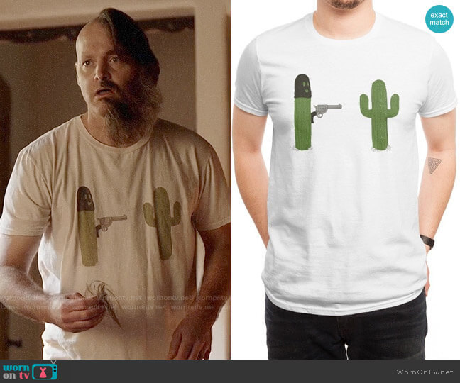 Threadless Stick em Up T-shirt worn by Phil Miller (Will Forte) on Last Man On Earth