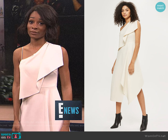 One Shoulder Dress by Topshop worn by Zuri Hall  on E! News