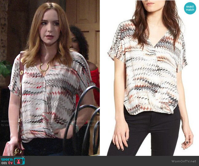 Trouve Surplice Top worn by Mariah Copeland (Camryn Grimes) on The Young & the Restless