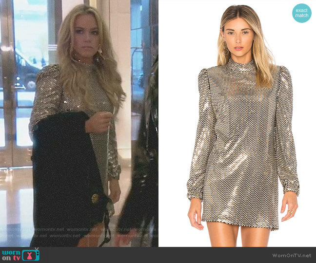 'Zulema' Dress by Tularosa worn by Teddi Mellencamp Arroyave on The Real Housewives of Beverly Hills