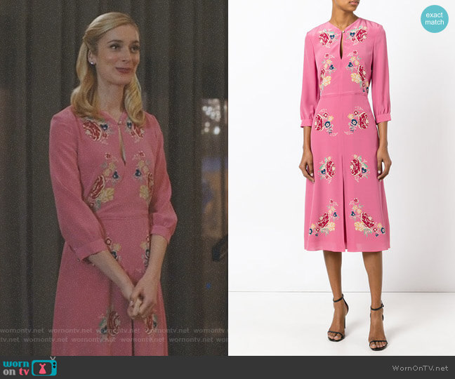 Holly Rose Dress by Vilshenko worn by Caitlin FitzGerald on UnReal