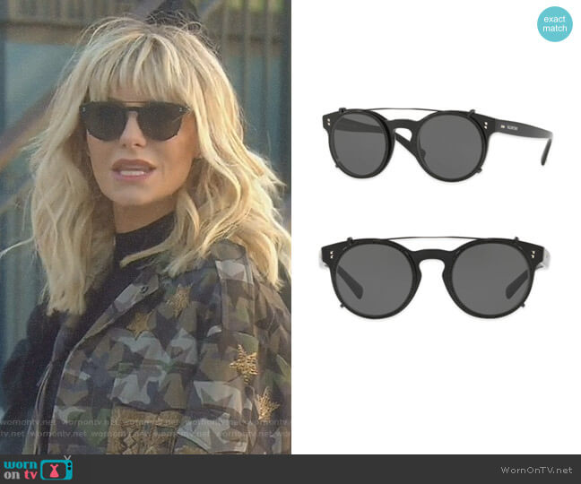 Rockstud Rivet Round Sunglasses by Valentino Garavani worn by Dorit Kemsley (Dorit Kemsley) on The Real Housewives of Beverly Hills