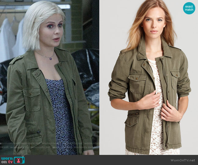 Velvet by Graham & Spencer Army Jacket worn by Liv Moore (Rose McIver) on iZombie