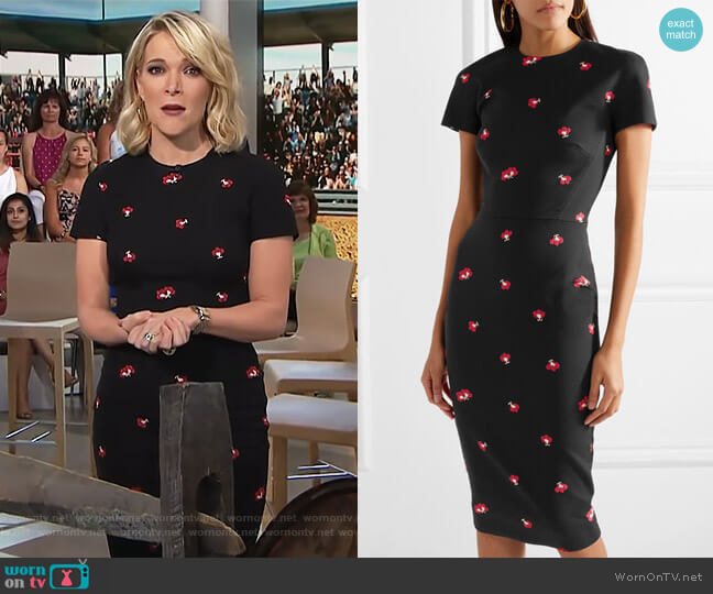 Quilted-Knit Cotton-Blend Sheath Dress by Victoria Beckham worn by Megyn Kelly on Today