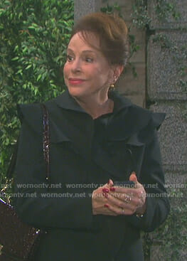 Vivian's black ruffled coat on Days of our Lives