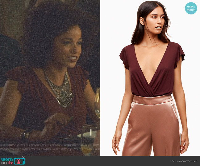 'Nuage' Bodysuit by Wilfred worn by Maia Roberts (Alisha Wainwright ) on Shadowhunters