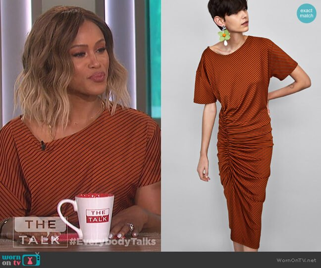 Striped Dress by Zara worn by Eve on The Talk